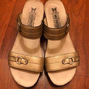 MEPHISTO SLIP-ON Color: Bronze SANDALS 1A7482923